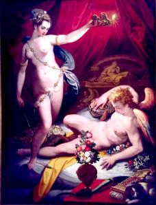 Jacopo Zucchi, Psyche surprende Amor.