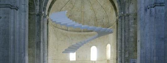 Lang et Baumann, Beautiful steps#4-l'échelle de Jacob, Abbaye de Montmajour, 2104.