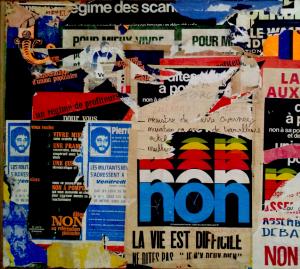 Jacques Villéglé, affiches lacérées.