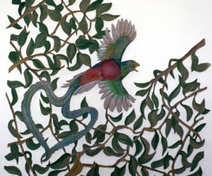 Quoizal, œuvre sur papier découpé grand format, François Michaud.