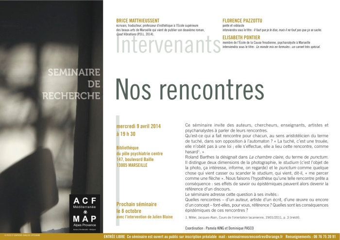 NOS RENCONTRES 9 avril 2014