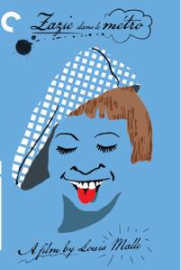 L'affiche de Zazie dans le métro, le film de L. Malle (1960) d'après le roman de R. Queneau.