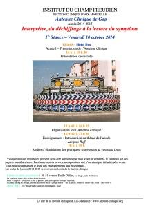 1ième séance AC 2014-15 10 octobre 2014