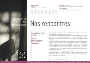 Affiche Séminaire du 08-10-2014