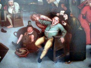 L'excision de la Pierre de Folie (détail), d'après Bruegel l'Ancien (circa 1557).