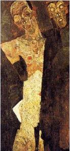 Le prophète, double autoportrait, Egon Schiele (1911).