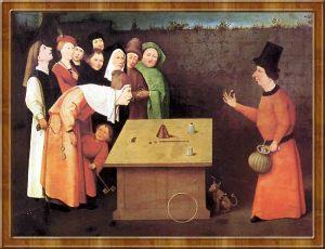 Hieronymus Bosch, L'escamoteur (1475-1505).
