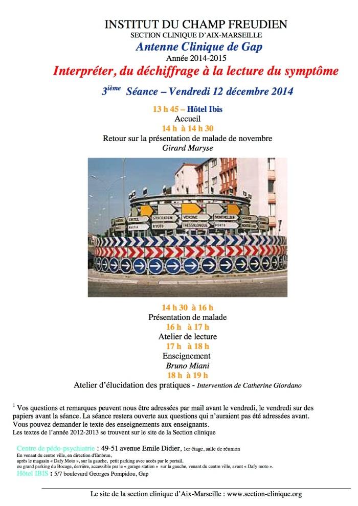 3ième séance AC 2014-15 12 décembre 2014