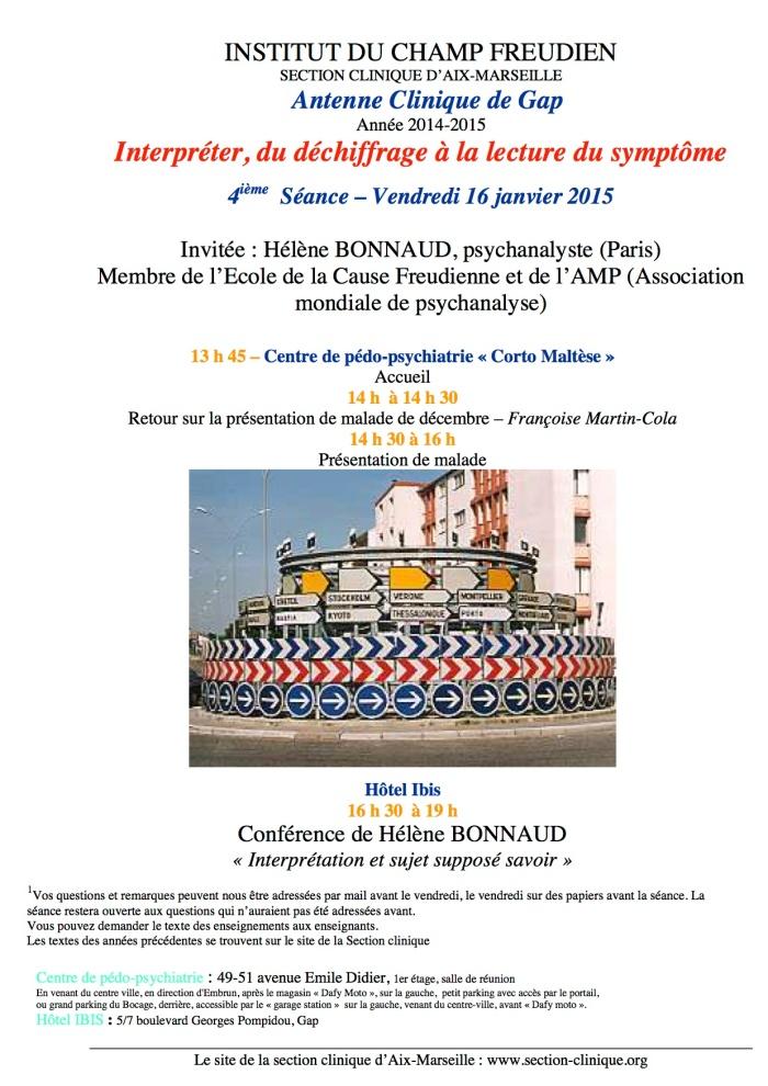4ième séance AC 2014-15 16 janvier 2015