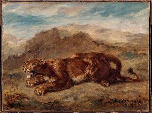 Lionne prête à s'élancer, Eugène Delacroix ©RMN-Grand Palais (musée du Louvre), H. Lewadowski.