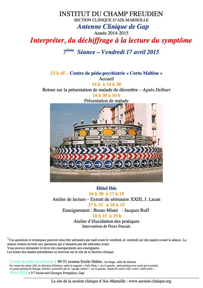 7ième séance AC 2014-15 17 avril 2015