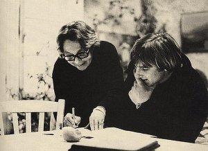 Depardieu et Marguerite Duras travaillent sur Le camion (1977).