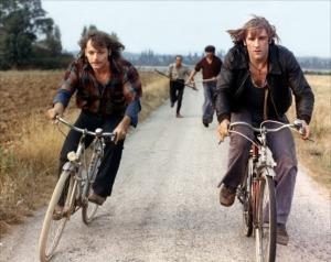 Gérard Depardieu (à g.) et Patrick Dewaere dans Les valseuses, de Bertrand Blier (1974).
