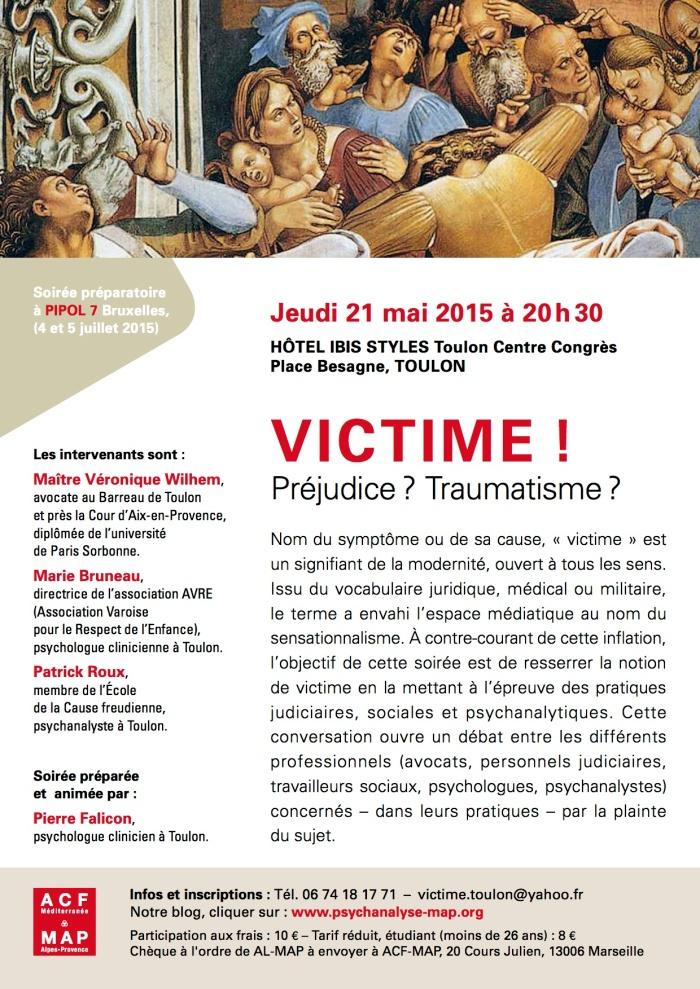 Affiche VICTIMES Toulon 21 mai