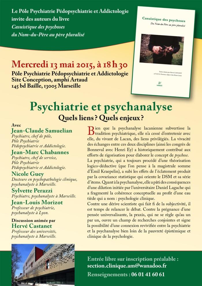 Pole psychiatrie centre livre Casuistique 13 mai