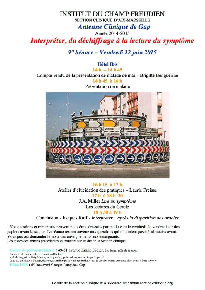 9ième séance AC 2014-15 juin 2015