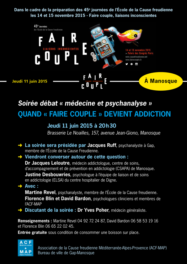 FAIRE COUPLE affiche 11 JUIN MANOSQUE