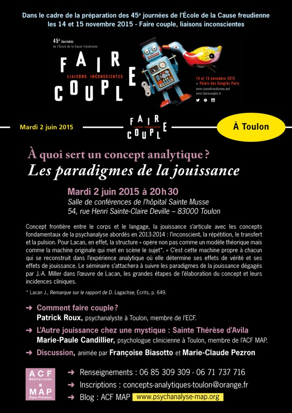 FAIRE COUPLE affiche 2 juin Toulon CONCEPT ANALYTIQUE