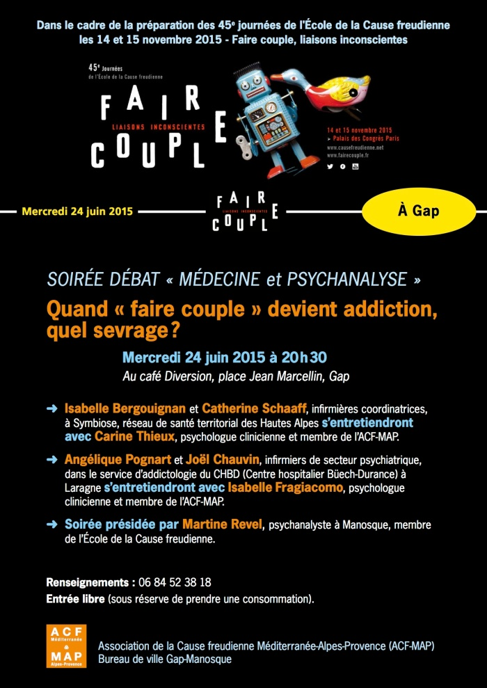 FAIRE COUPLE affiche 24 JUIN GAP NEW