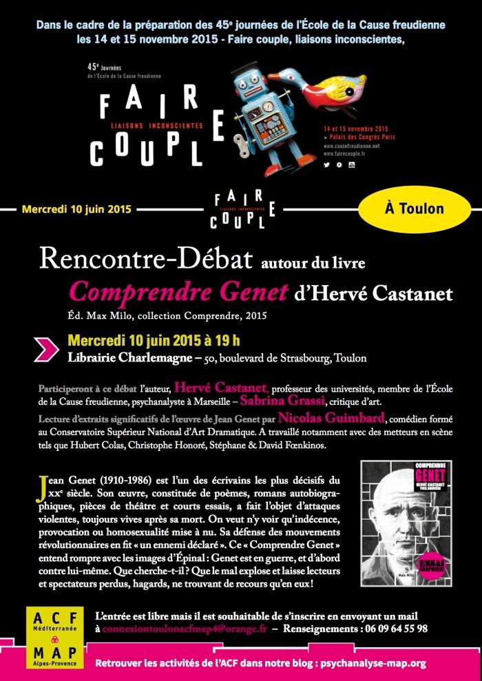 ACF Livre Comprendre Genet 10 juin 2015 TOULON new