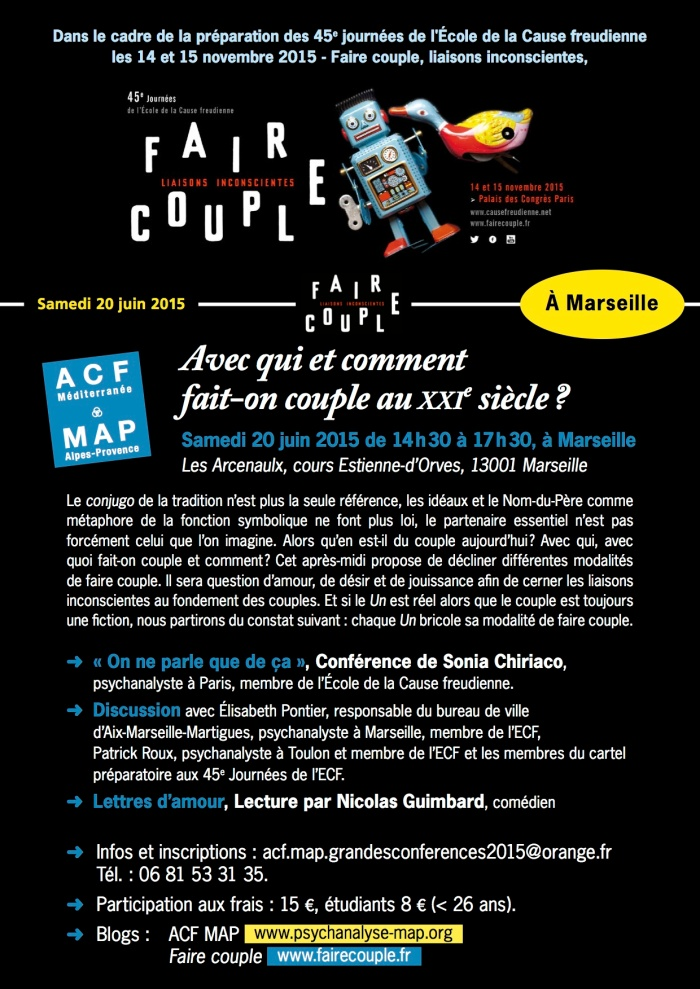 FAIRE COUPLE affiche 20 JUIN MARSEILLE NEW