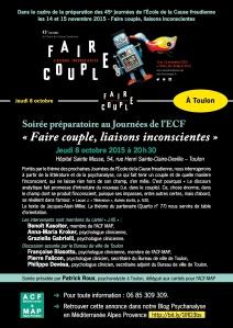 Affiche Soirée préparatoire 8 oct. Toulon