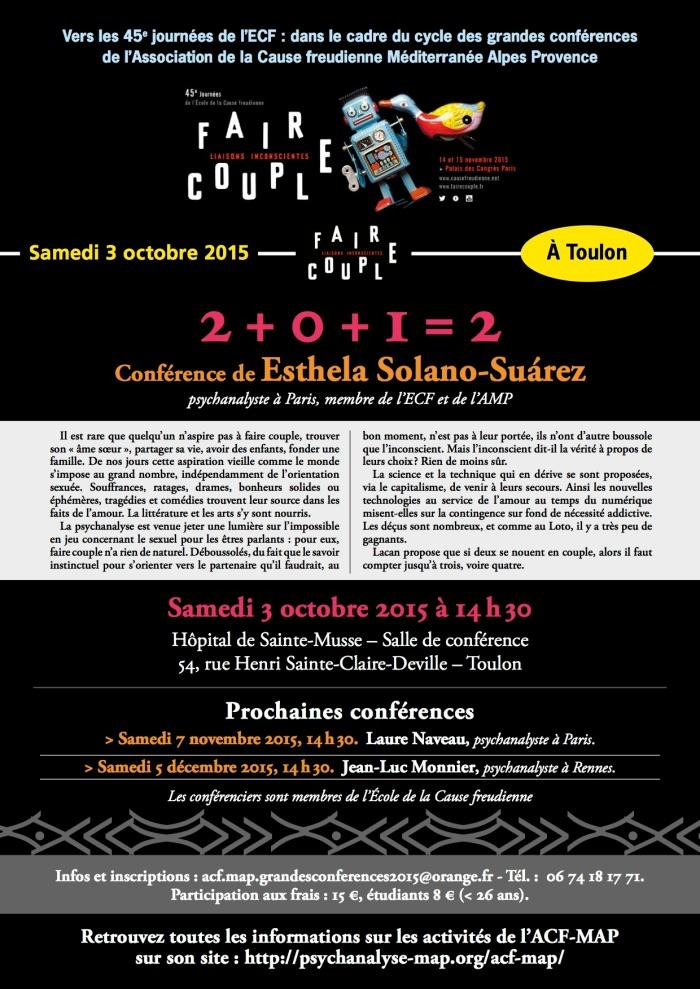 GRANDES CONFÉRENCES 2015-Esthela Solano 3 oct