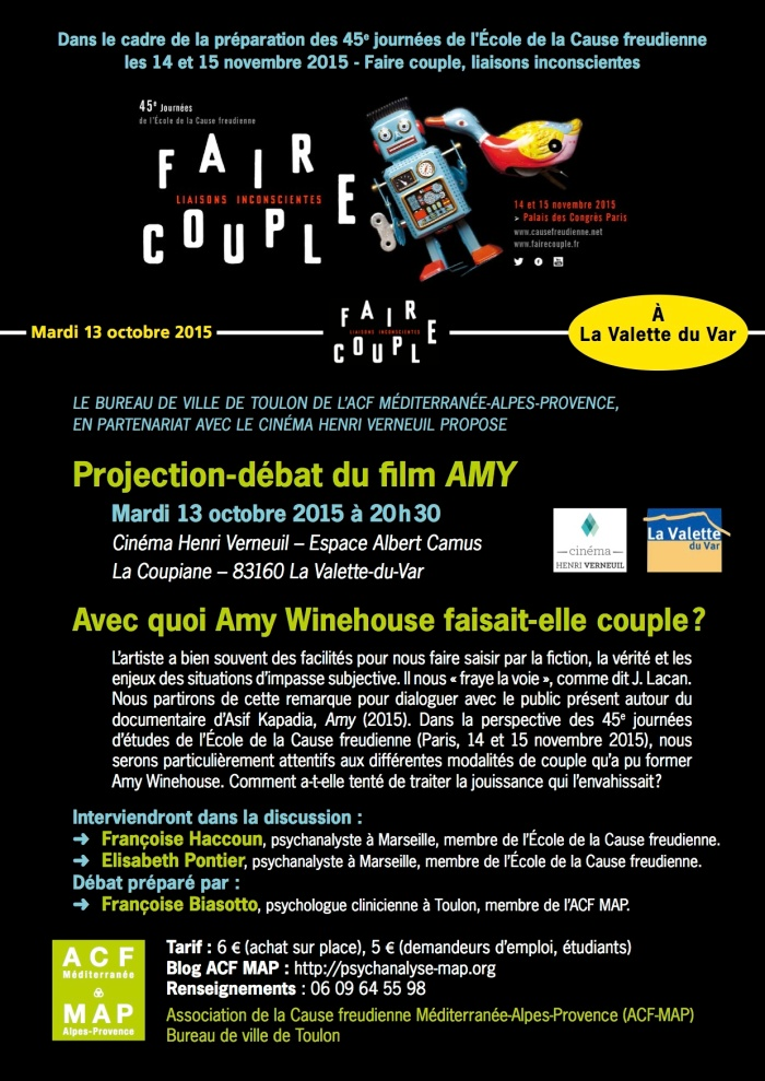 FAIRE COUPLE- AMY - 13 oct Toulon Cine¦üma VERNEUIL