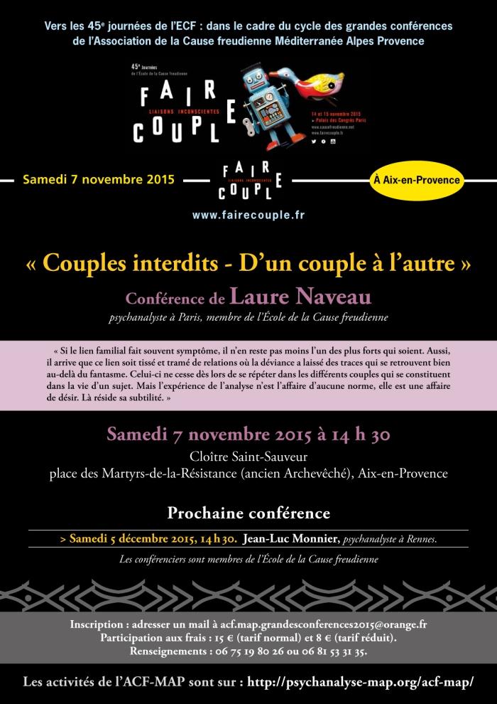GRANDES CONF�RENCES 2015-Laure Naveau 7 novembre