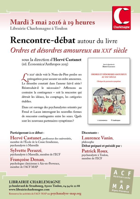 ACF Rencontre livre Ordres et de?sord res amoureux 3 mai 2016 à Toulon