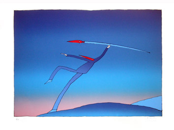 Folon, L'artiste, 1973.