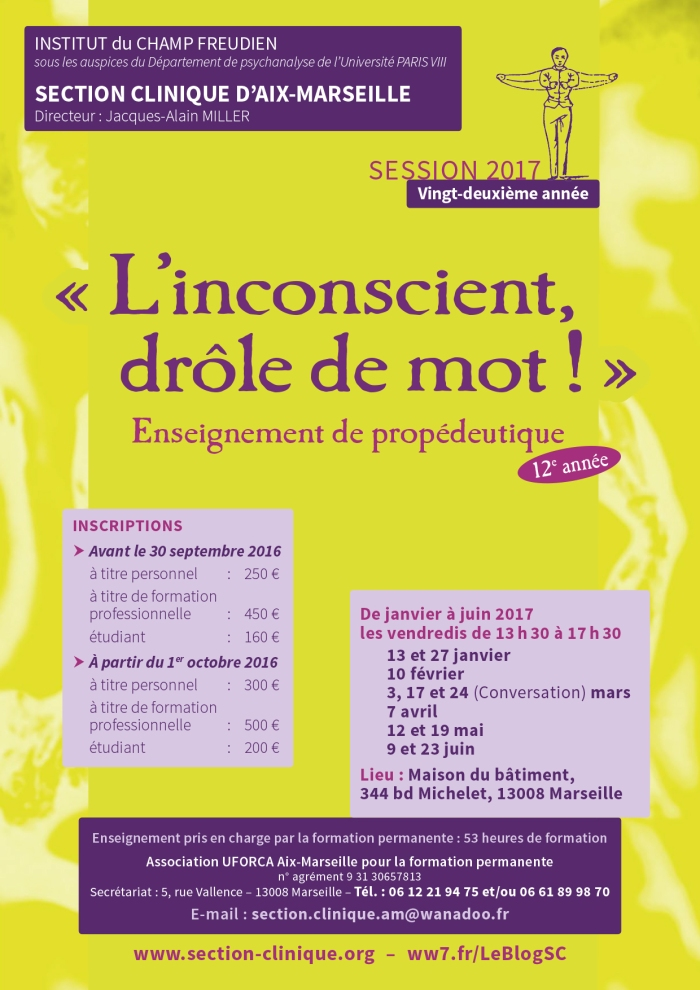 SECTION CLINIQUE propédeutique AFFICHE 2017 p1