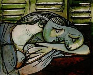 Pablo Picasso, La dormeuse aux persiennes (1936).