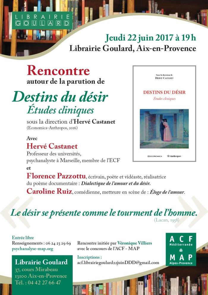 RENCONTRE Castanet Librairie Goular d 22 juin 2017 Destins du désir