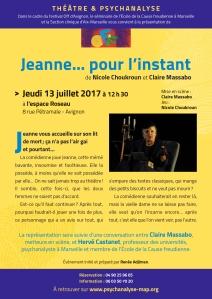 3-JEANNE… POUR L'INSTANT 13 juillet Avignon