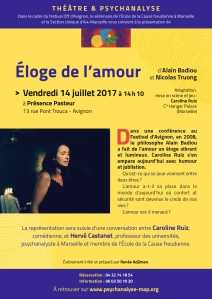 5-ÉLOGE DE L'AMOUR 14 juillet Avignon