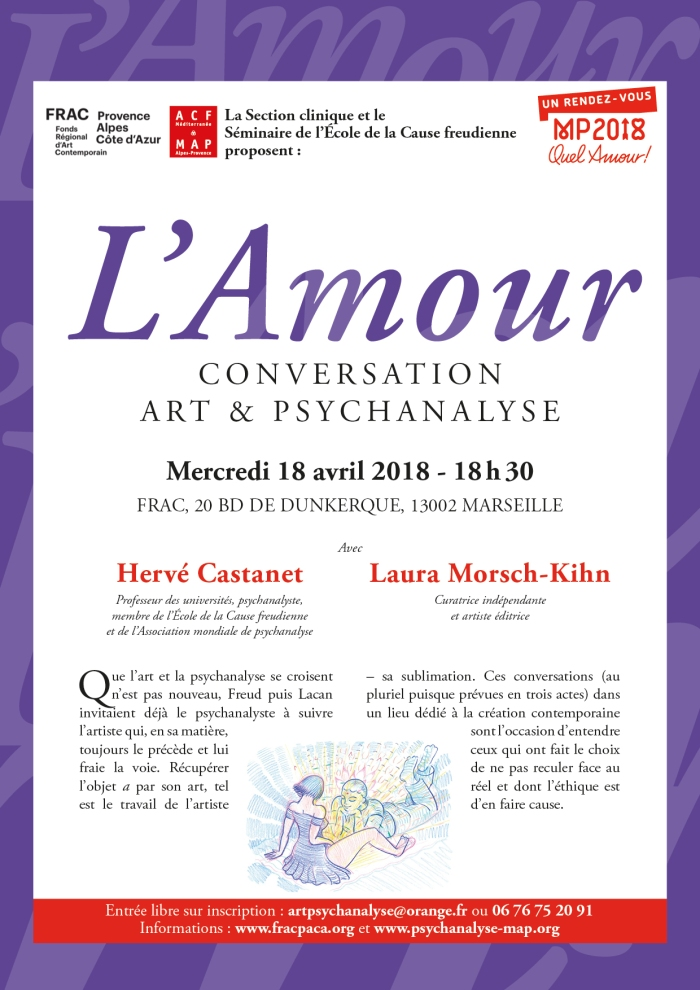 L'AMOUR CONVERSATION 18 avril 2018 au FRAC