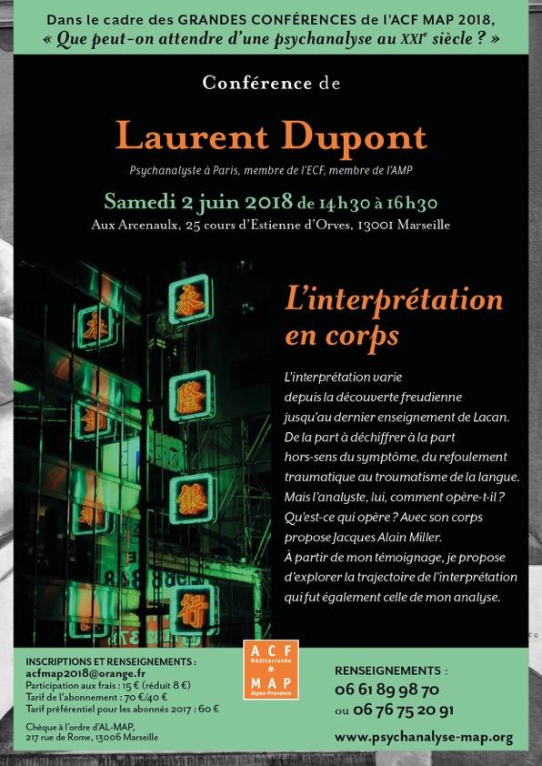 Grande Confe?rence Laurent Dupon t, 2 juin 2018 à Marseille