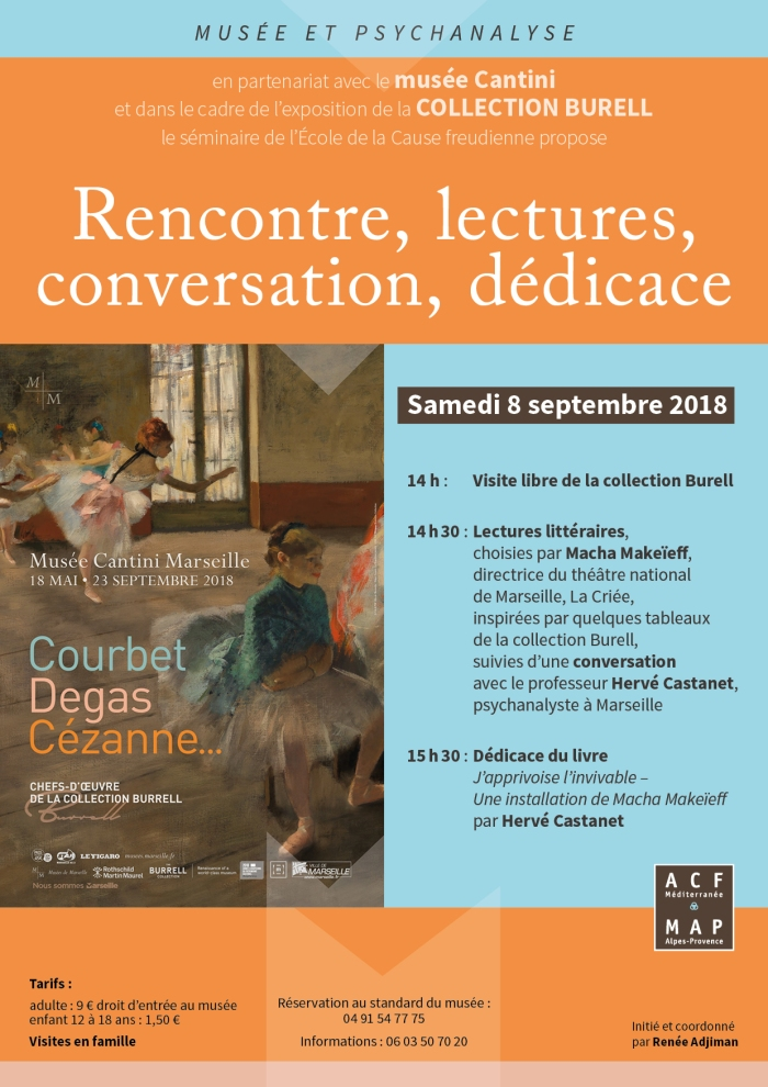 Rencontre lectures, Collection Burell , musée Cantini, 8 septembre 2018
