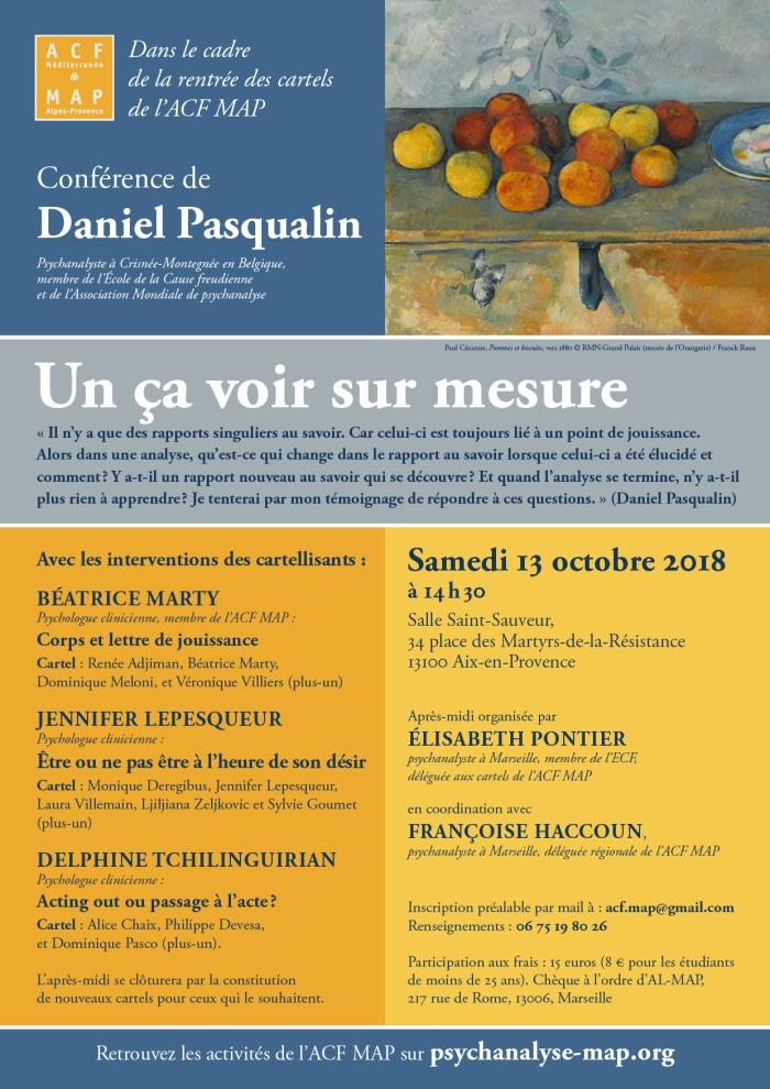 RENTRÉE DES CARTELS 13 octobre 2018 Aix