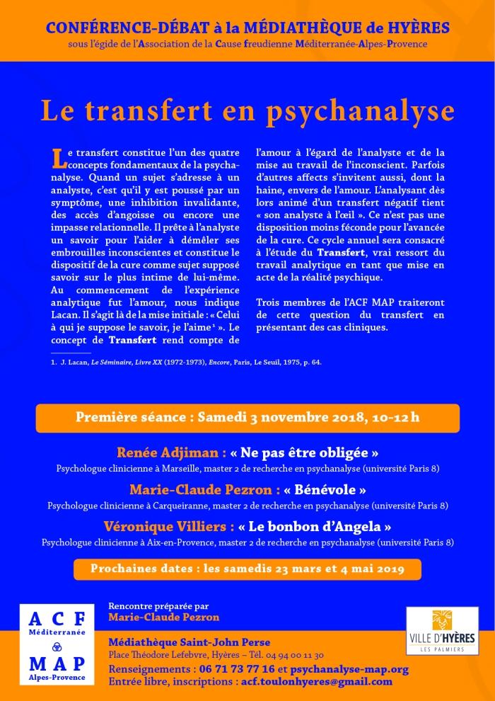 le transfert en psychanalyse novembre 2018
