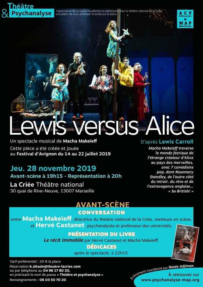 derThe?a?tre et Psychanalyse , Lewis versus Alice, 28 novembre 2019, La Criée, conversation et de?dicace (4)